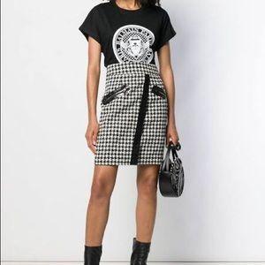 BALMAIN | Black & white Authentic logo t-shirt
